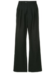 Strateas Carlucci Flared Check Trousers Grey