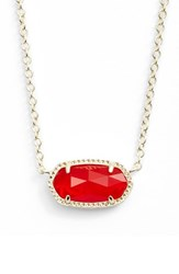 Kendra Scott Women's 'Elisa' Pendant Necklace Ruby Red