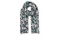 Whistles Marble Print Scarf Multicolour