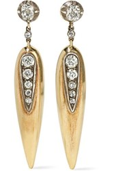 Fred Leighton Collection 18 Karat Gold Diamond Earrings
