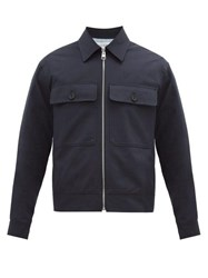 J.W.Anderson Jw Anderson Zipped Cotton Gabardine Jacket Navy
