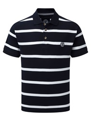 Tog 24 Wilson Stripe Polo Regular Fit Polo Shirt Midnight