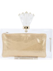 Charlotte Olympia 'Decorative Pandora' Clutch Nude And Neutrals