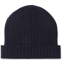 A.P.C. Ribbed Wool Beanie Navy