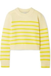 La Ligne Mini Marin Striped Wool And Cashmere Blend Sweater Yellow