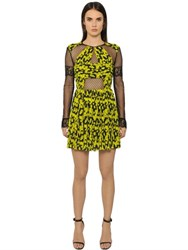 Caterina Gatta Daisy Printed Georgette And Tulle Dress