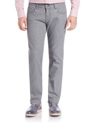 Faconnable Classic Textured Denim Jeans Stone