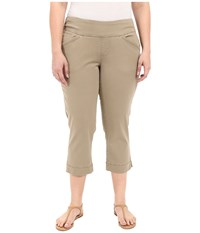 Jag Jeans Plus Size Marion Crop In Bay Twill Hazelnut Women's Casual Pants Brown
