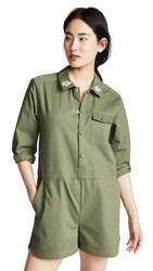 Laveer Rose Collar Romper Army Green