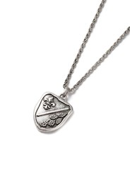 Topman Silver Look Legacy Stamp Pendant Necklace