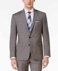 Ryan Seacrest Distinction Men's Slim Fit Gray Plaid Jacket Only At Macy's Grey