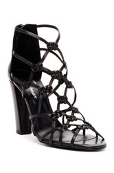 Delman Scandal Heeled Sandal Black