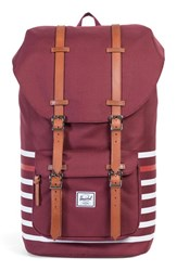 Herschel Men's Supply Co. Little America Offset Backpack Red Windsor Wine