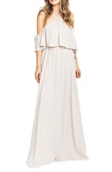 Show Me Your Mumu Women's Rebecca Off The Shoulder Chiffon Gown Show Me The Ring