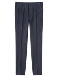 Jigsaw Micro Houndstooth Suit Trousers Navy