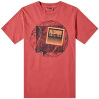 Billionaire Boys Club Pigment World Map Tee Red