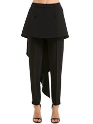Antonio Berardi Stretch Cady Pants W Skirt Panels Black