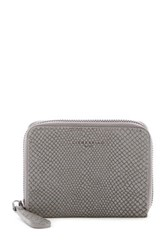 Liebeskind Snake Embossed Leather Coin Wallet Gray