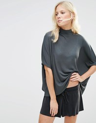 Y.A.S Samantha Oversized Rollneck Top Grey
