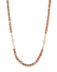 Armenta Old World Long Beaded Moonstone Scroll Necklace 36 L