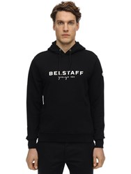 Belstaff Logo Cotton Sweatshirt Hoodie Black