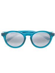 Maui Jim Round Frame Sunglasses Blue