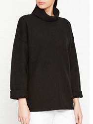 Jigsaw Boiled Wool Jumper Black