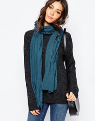Esprit Fine Knit Scarf Petrolblue