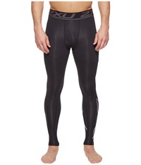 2Xu Accelerate Compression Tights Black Silver Workout
