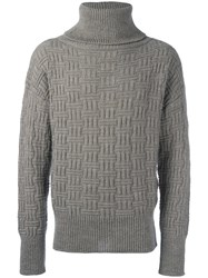 Vivienne Westwood Man Roll Neck Long Sleeve Jumper Grey