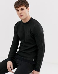 Tom Tailor Knitted Jumper With Contrst Cuffs Green