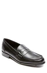 Men's Rockport Leather Penny Loafer Black