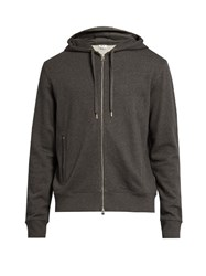 Acne Studios Johna Hooded Cotton Sweatshirt Dark Grey