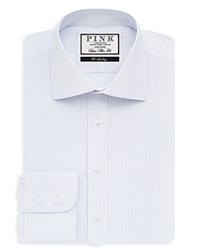 Thomas Pink Vernon Check Dress Shirt Bloomingdale's Slim Fit White Sky