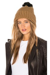 Hat Attack Tonal Pom Beanie Brown