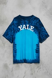 Forever 21 Yale Tie Dye Tee Blue White