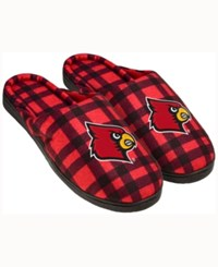 Forever Collectibles Louisville Cardinals Flannel Slide Slippers Red
