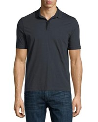 Armani Collezioni Supima Cotton Polo Shirt Blue
