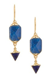 Janna Conner Soma Lapis Drop Earrings No Color