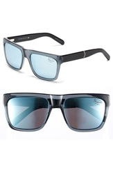 Original Penguin 'The Flynn' 55Mm Polarized Sunglasses Charcoal Silver Mirror
