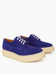 Ganryu Blue Nubuck Brothel Creeper