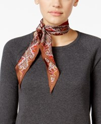 Echo Peak Paisley Diamond Silk Oblong Scarf Gunmetal