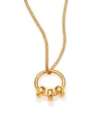 A Peace Treaty Arme Ring Pendant Necklace Gold