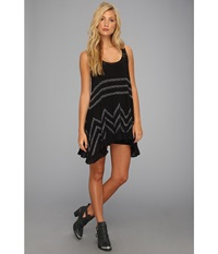 Free People Voile Trapeze Slip Black Combo Women's Sleeveless