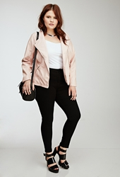Forever 21 Collarless Faux Leather Jacket