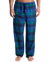 Perry Ellis Men's Plaid Flannel Pajama Pants Blue Green