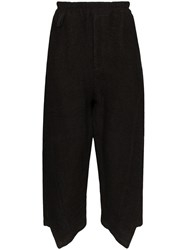 By Walid Artem Cropped Trousers Black