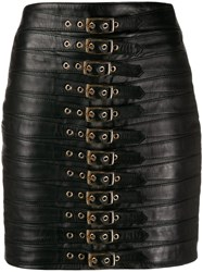 Manokhi Buckled Mini Skirt Black
