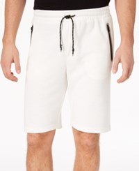 Ring Of Fire Men's Heathered Knit Shorts White