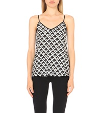 Warehouse Embellished Printed Camisole None